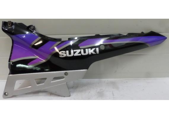 Achterkant links zwart/paars/zilver GSX 750 F
