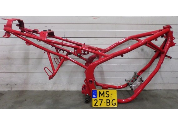 Frame met Nederlands kenteken rood XJ 600 S 1995