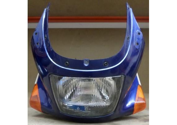 Topkuip blauw/parelmoer wit inclusief koplamp en knipperlichten ZX10