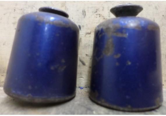 Stuurgewichten blauw (set) inclusief bouten ZX10