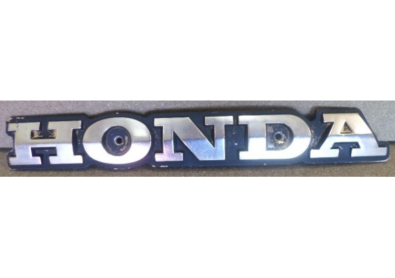 "Tankembleem ""HONDA"" goud/zwart (8,8 x 2,6 cm.) Honda alg."