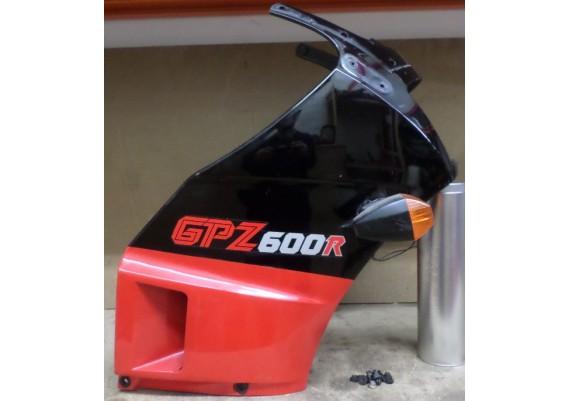 Topkuip rood/zwart (1) inclusief knipperlichten en kuipboutjes GPZ 600 R