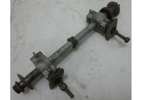 Achteras compleet met kettingspanners XTZ 750
