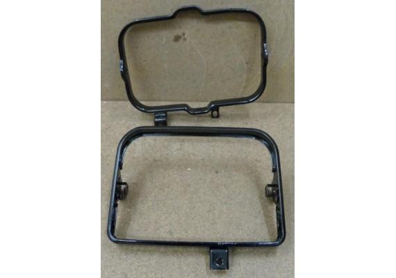 Koplampsteunen (set) zwart gepoedercoat GSX 750 EF ES