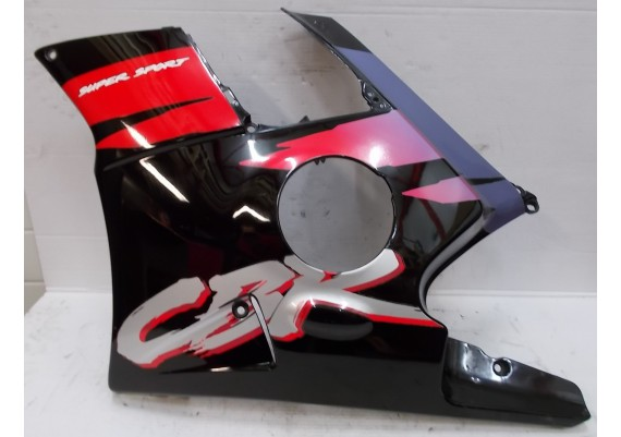 Zijkuip links zwart/paars/rood/zilver (1) 64350-MV9-0000 CBR 600 F PC25