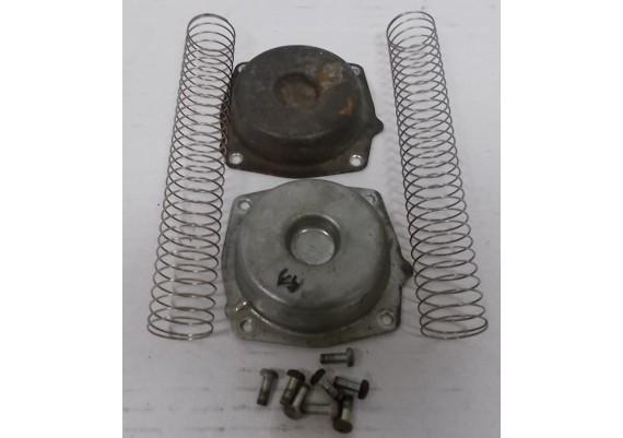Deksels carburateur inclusief veren en boutjes XL 600 V