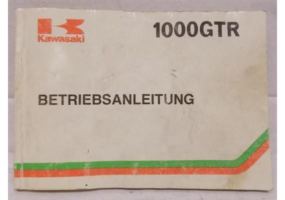 Instructieboekje (Duits) ZG1000-A1 99923-1146-01 GTR 1000