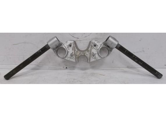Kroonplaat zilver inclusief clip-ons / stuurhelften (1) GSX 750 F