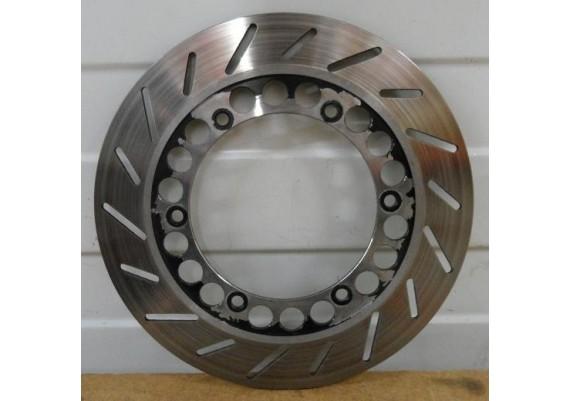 Remschijf links voor (4,7 - 4,8 mm. nieuw : 5 mm.) Radian