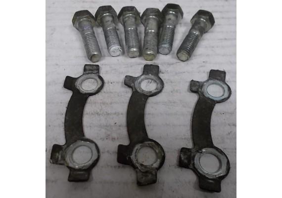 Bevestiging remschijf (set boutjes en plaatjes) GS 450 L