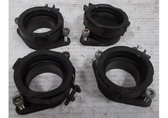 Inlaatrubbers (set) inclusief klemmen en boutjes ZXR 750 L