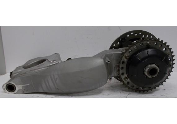 Achterbrug (1) inclusief remschijf 5,6 mm, achteras, tandwieldrager en tandwiel ST 955 i
