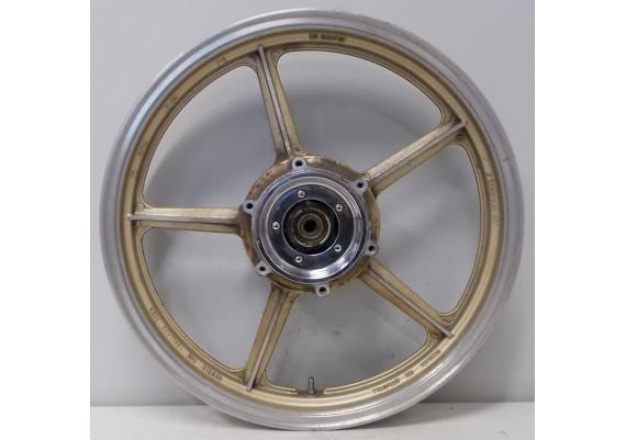 Voorvelg goud/aluminium (2) J19 x MT2.15 inclusief chromen sierdoppen XV 1000