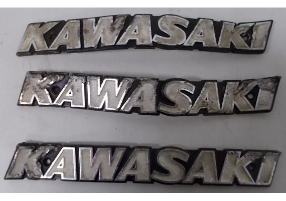 """Tankemblemen """"KAWASAKI"""" (set van 3 stuks) Z 1000 / KZ 1000"""