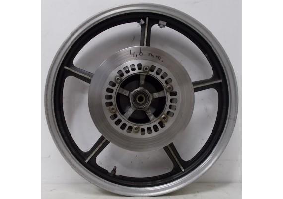 Voorvelg zwart/aluminium (1) inclusief 2 goede remschijven (4,6 mm.) XJ 700 S Maxim