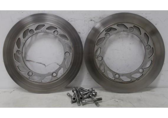 Remschijven voor (set 2) 4,8 mm. inclusief set bevestigingsbouten ! CB 650 SC N.H.