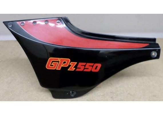 Zijkap links zwart/rood/oranje 36001-1200 GPZ 550 1989