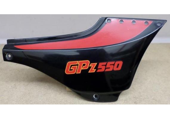 Zijkap rechts zwart/rood/oranje 36001-1201 GPZ 550 1989