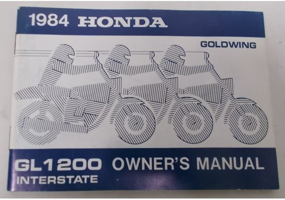Owners Manual GL 1200 Interstate 1984 00X31-MG9-7000