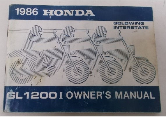 Owners Manual GL 1200 i Interstate 1986 00X31-ML8-7002