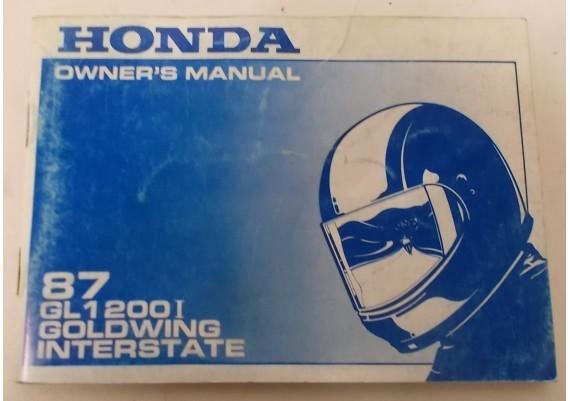 Owners Manual GL 1200 i Interstate 1987 00X31-ML8-7100