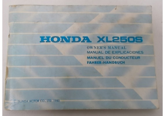 Owners Manual XL 250 S 1980 3642804