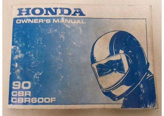 Owners Manual CBR 600 F 1990 00X31-MT6-6100