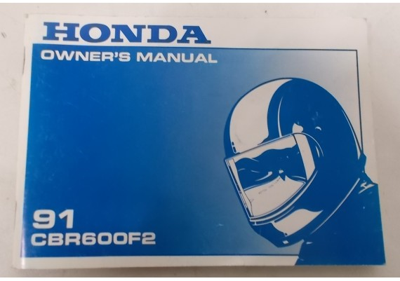 Owners Manual CBR 600 F2 1991 00X31-MV9-6001