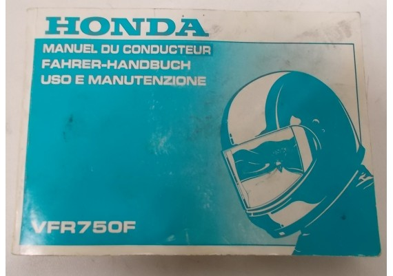 Owners Manual VFR 750 F 1992 Engels/Duits/Spaans 00X37-MY7-8100