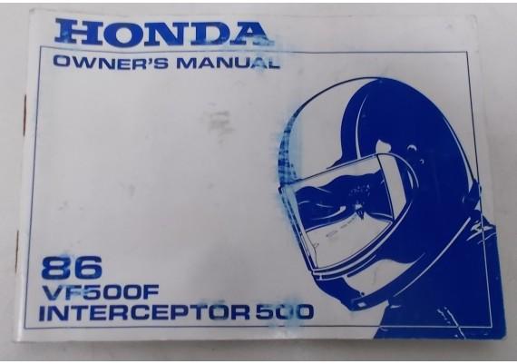 Owners Manual VF 500 F Interceptor 1986 00X31-MM1-6000