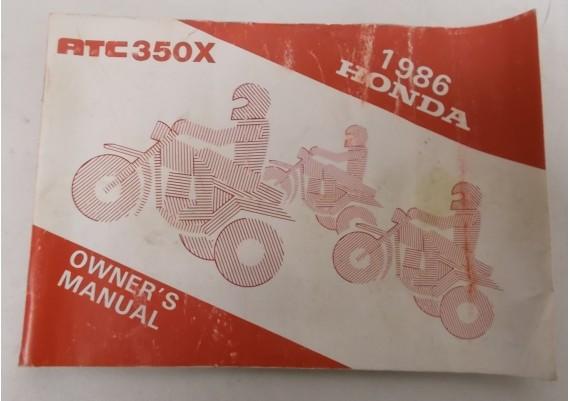 Owners Manual ATC 350 1986 00X31-HA5-6100