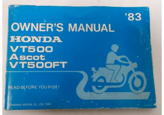 Owners Manual VT 500 Ascot / VT 500 FT 1983 00X31-MF8-6000