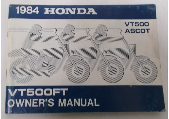 Owners Manual VT 500 FT 1984 00X31-MF8-6100