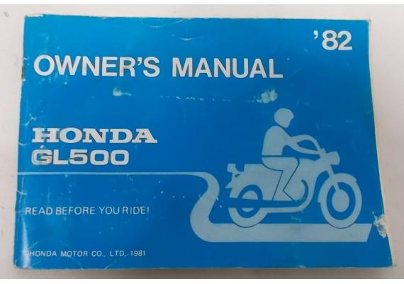 Owners Manual GL 500 1982 31MA151