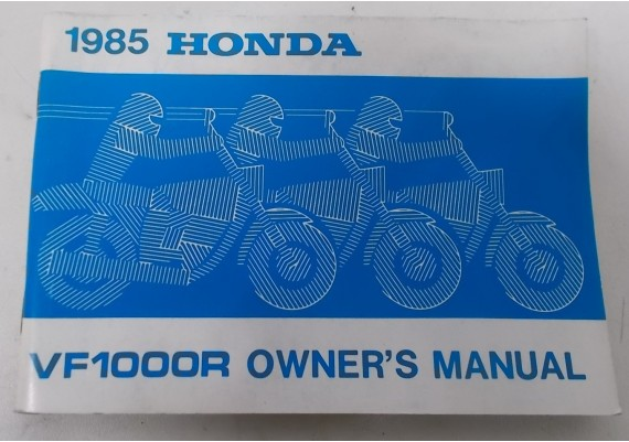 Owners Manual VF 1000 R 1985 00X31-MJ4-6002