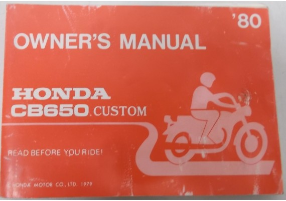 Owners Manual CB 650 Custom 1980 Engels/Frans 3246000
