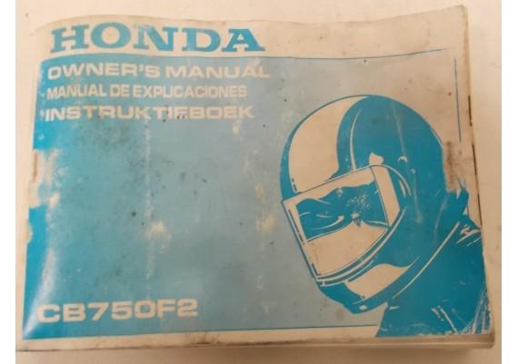 Owners Manual Engels/Frans/Nederlands 1992 00X37-MW3-6000