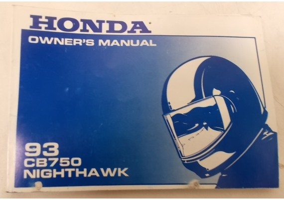 Owners Manual CB 750 SC NH 1993 00X31-MW3-6200