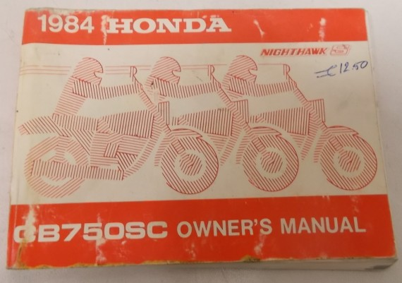 Owners Manual CB 750 SC NH 1984 Engels/Frans 00X32-MJ1-6000