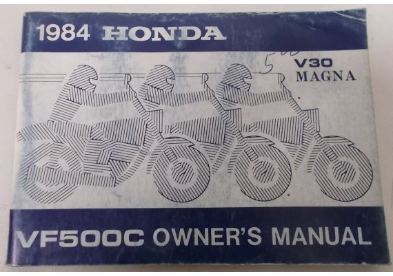 Owners Manual VF 500 C Magna 1984 00X31-MJ8-6000