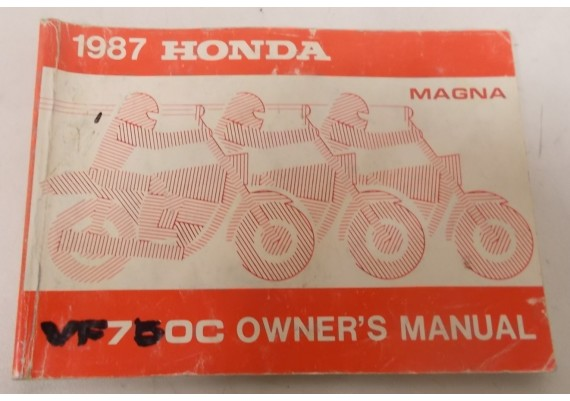 Owners Manual VF 750 C 1987 Engels/Frans 00X32-MN2-6000