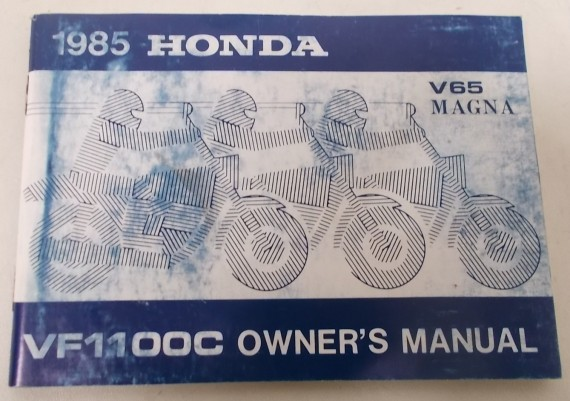 Owners Manual VF 1100 C Magna 1985 00X31-MB4-6200