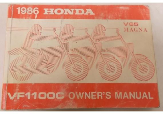 Owners Manual VF 1100 C Magna 1986 Engels/Frans 00X32-MB4-6300