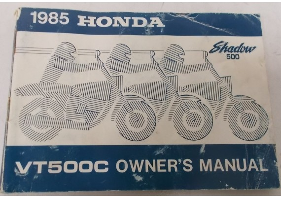 Owners Manual VT 500 C Shadow 1985 00X31-MF5-6200