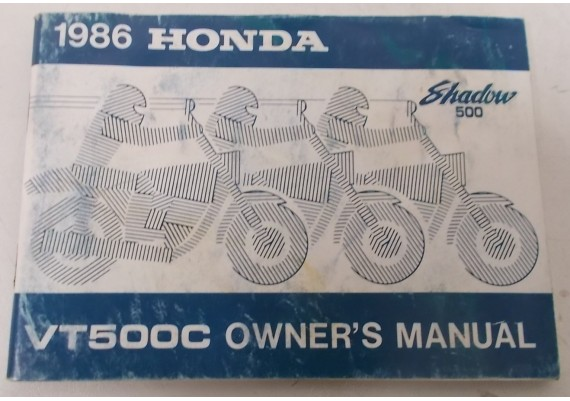 Owners Manual VT 500 C Shadow 1986 00X31-MF5-6300