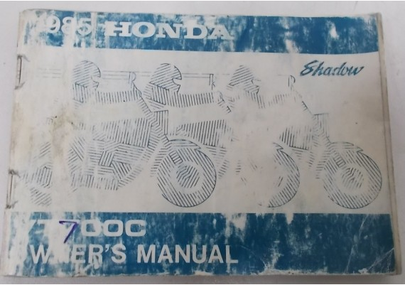 Owners Manual VT 700 C Shadow 1985 00X31-ME9-6200