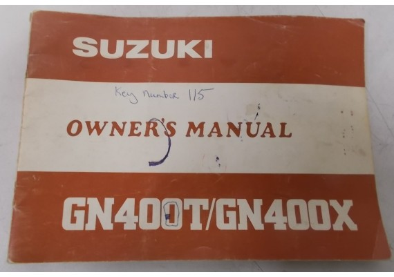 Owners Manual GN 400 T / GN 400 X 1980 99011-37321-03A
