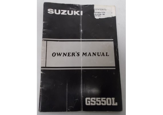Owners Manual GS 550 L 1984 99011-43532-03A