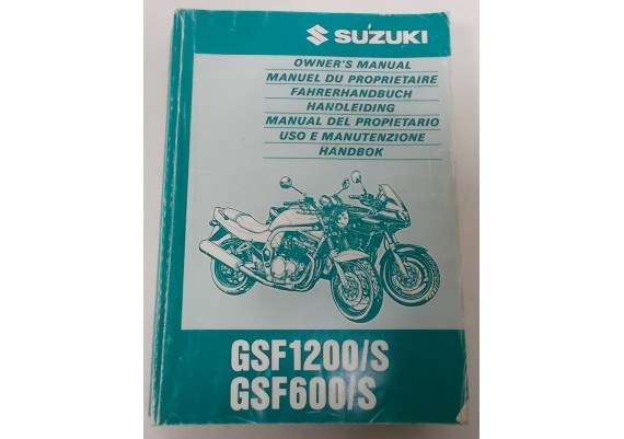 Owners Manual GSF 600/S - GSF 1200/S 1996 Engels/Frans/Duits/Nederlands o.a. 99011-27E51-042