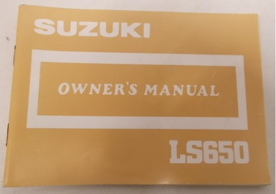 Owners Manual LS 650 Savage 1986 99011-24B21-03A